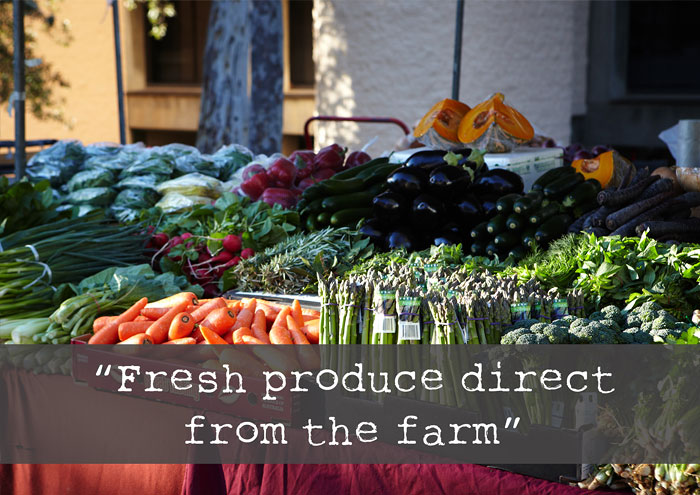 Fresh produce direct from the farm.