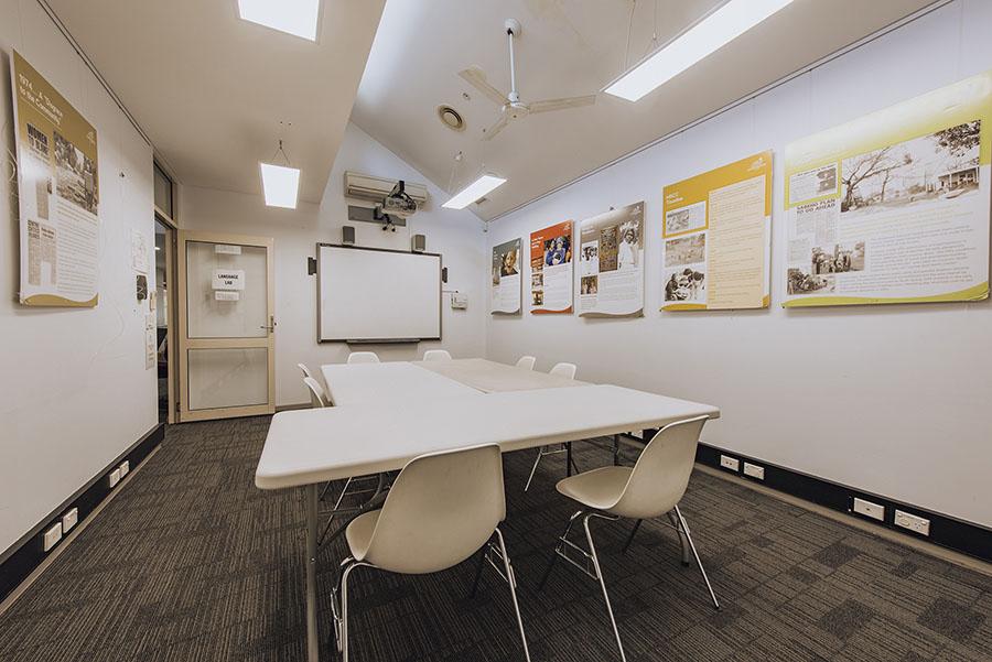 Interior of the language lab